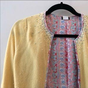 J. Crew Rare Wool and Silk Beaded Sweater